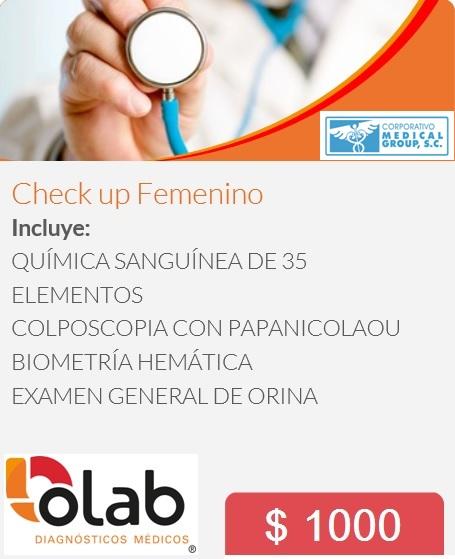 CHECK UP FEMENINO OLAB MG