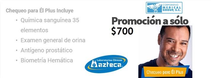 CHECK UP MASCULINO AZTECA MG