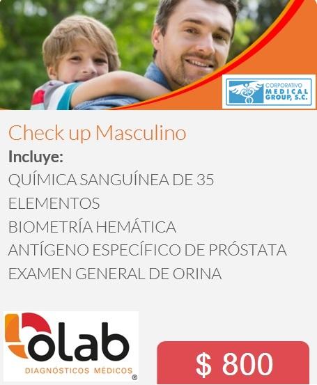CHECK UP MASCULINO OLAB MG