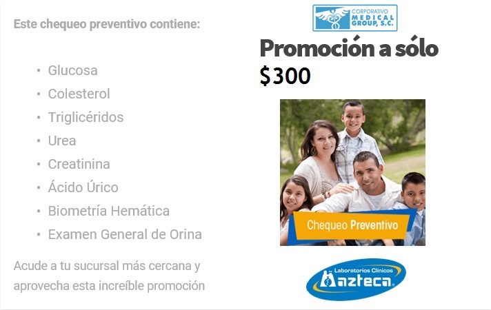 CHECK UP PREVENTIVO AZTECA MG