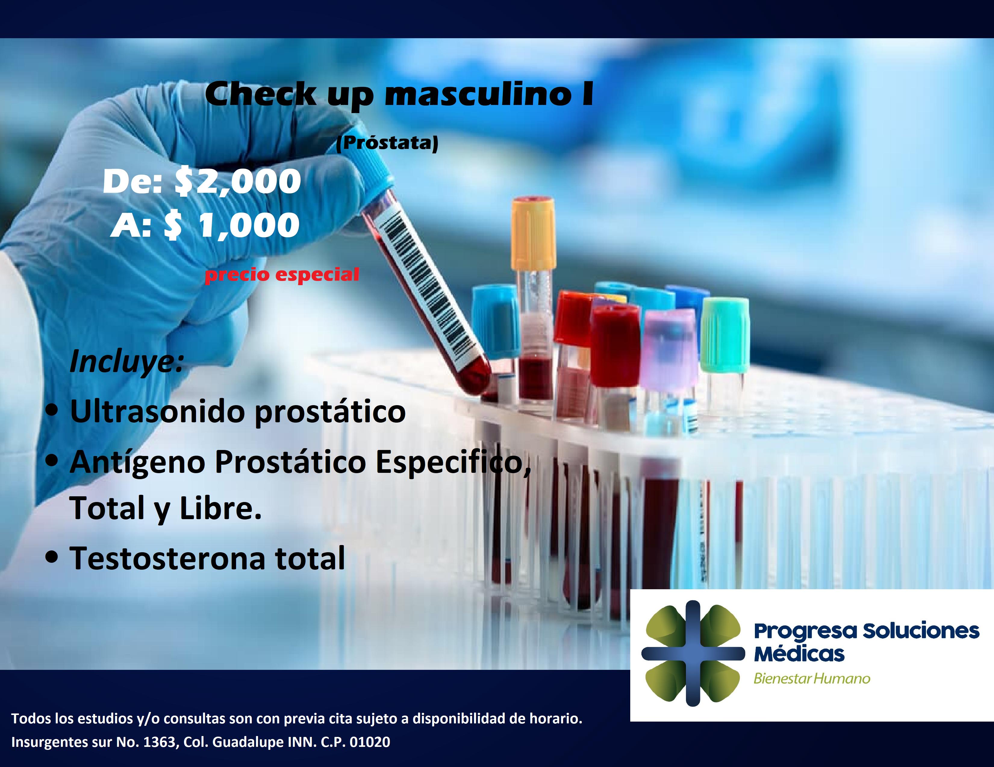 PROGRESA CHECK UP MASCULINO
